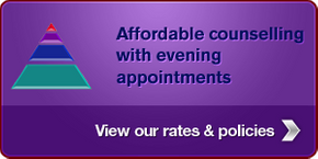 Affordable counselling with evening appointments